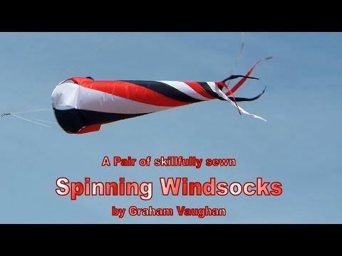 Skillfully Sewn Spinning Windsock