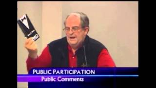 Lyle Thomas is told to leave Thompson School Board meeting after speaking