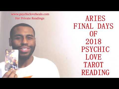 "ARIES LOVE TAROT FINAL DAYS OF 2018 ""A DOOR THAT'S CLOSED BUT WHO HAS A KEY...."""