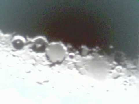 Moon with 76 700 bresser newtonian reflector youtube