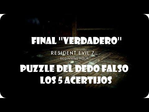 Resident Evil 7 / Demo / Final Verdadero y Puzzle del Dedo (Resuelto)
