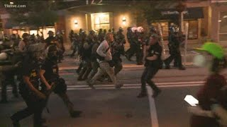 Watch | Arrests begin shortly after 9PM curfew in Atlanta