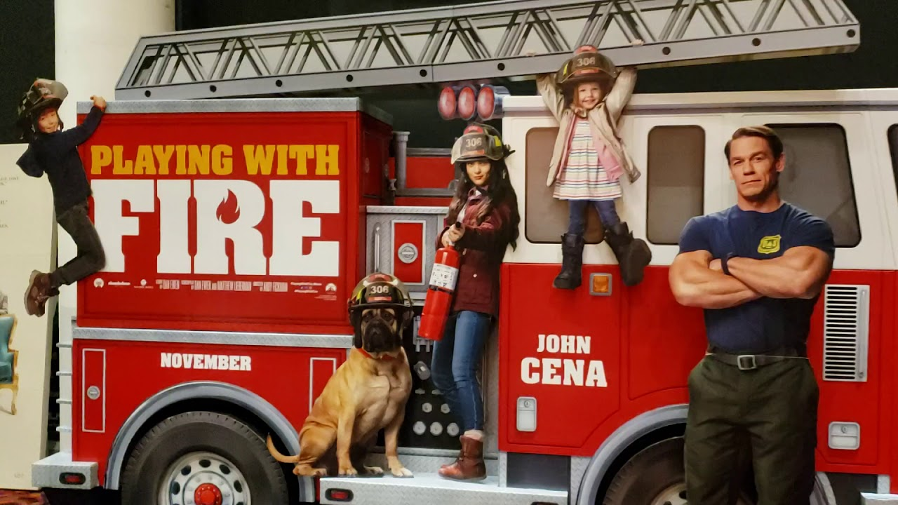 John Cena Standee In Evanston Playing With Fire