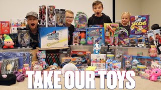 Giving Away All Our Toys