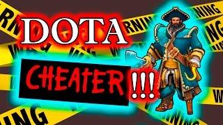 Dota 2 Cheater - Kunkka using Rapier Hack + Camera cheat!