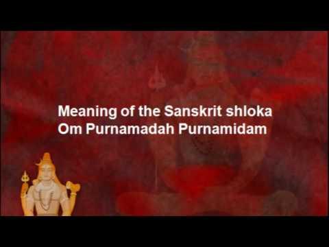 OM POORNAMADAH POORNAMIDAM w/ MEANING -  Universal Peace Hindu Sanskrit Shanti Sloka (chant / hymn)
