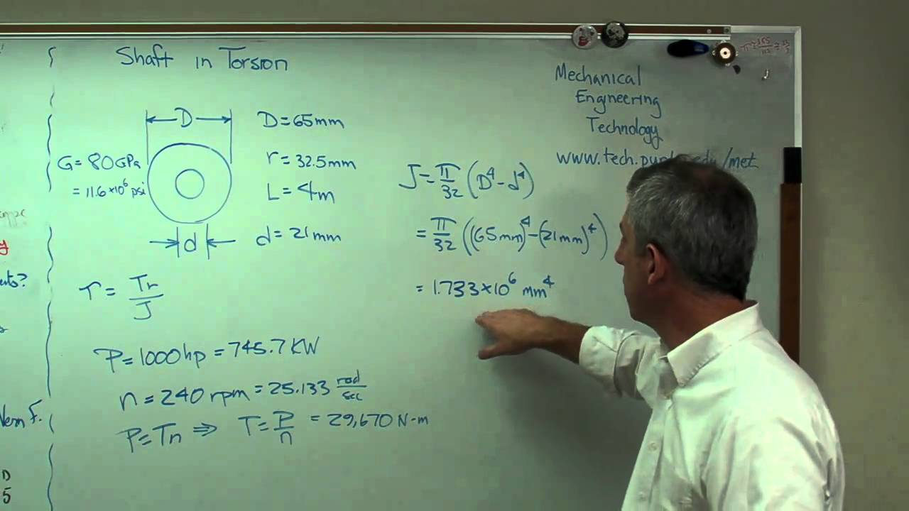 Shear Stress And Twist In Circular Shaft Mp4 Youtube