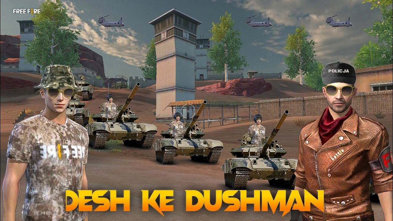 Desh ke Dushman Free fire Short Patriotic Story in Hindi || Free fire Story