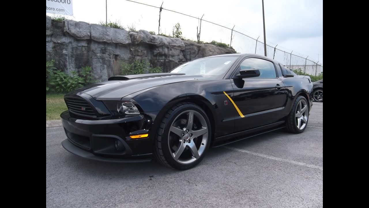 2014 Mustang Roush Stage 3 Automatic Black With Yellow At