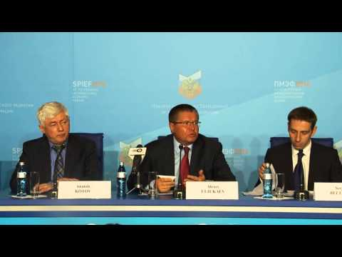 SPIEF 2014 - press conference with Minister of Economic Development Alexey Ulyukaev
