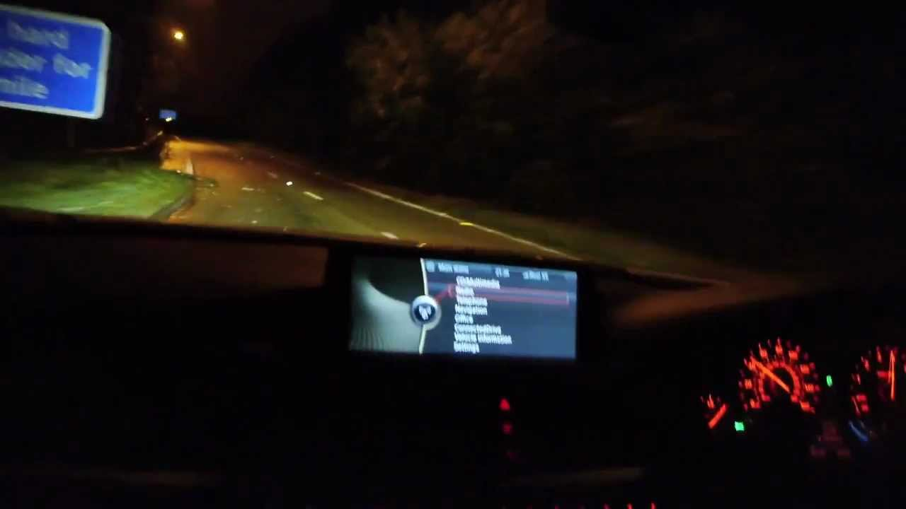 Bmw High Beam Assist Headlights Demonstration On F30 328i
