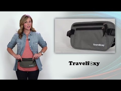 TRAVELFOXY Hidden Travel Pouch / Money Belt With RFID Shield