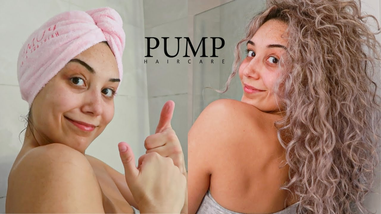 My Curly Hair Routine With Pump Hair Care Amazing Results Youtube