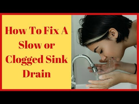 How To Fix A Slow Draining Bathroom Sink And Clogged Drains