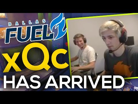 xQc FIRST game at the OWL Offices (Duo with Custa)