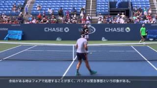 フェデラーのボレー練習(Federer Volley)