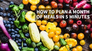How to Meal Plan for a Month in Just 5 Minutes