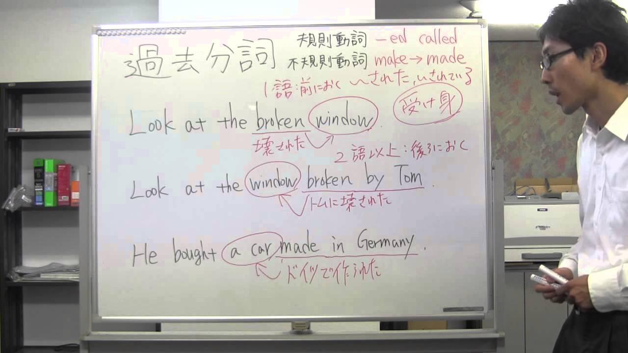 ていねいな中學3年生英語 過去分詞 - YouTube