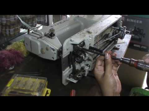 REPAIR A TYPICAL INDUSTRIAL SEWING MACHINE GOT STUCK   MEMPERBAIKI MESIN JAHIT INDUSTRI MACET 19 09