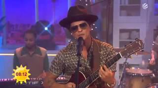 Bruno Mars performing Young Girls on Sat 1 Frühstücksfernsehen