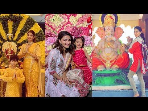 Bollywood Actors Celebrating Ganesh Chaturthi 2019 | Sara Ali Khan|Shilpa Shetty |Sunny Leone Mp3