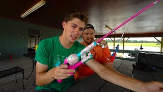 One of Jon B.'s most viewed videos: Fishing With Hello Kitty Rod...