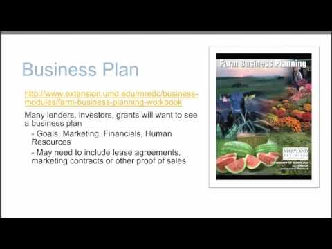 Creating a Farm Loan Package Webinar