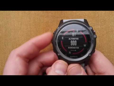 Garmin Fenix 3 : Calibrating Altimeter, Barometer & Compass