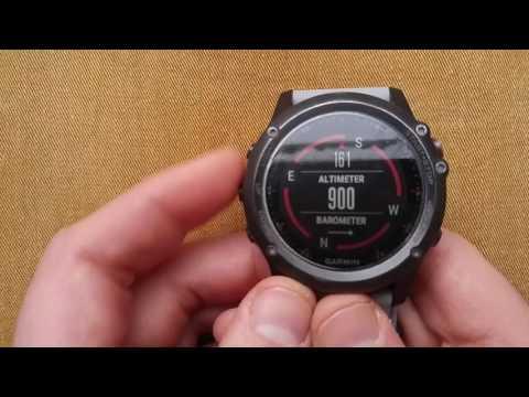 Garmin Fenix 3 : Calibrating Altimeter, Barometer & Compass
