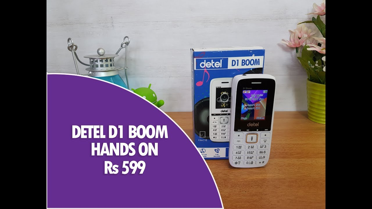 Detel D1 Boom- Rs 699 Feature Phone with Panic Button