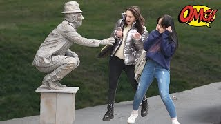 HUMAN STATUE PRANK 2019 #7 | Best of Just For Laughs  AWESOME REACTIONS