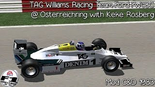 [F1C] TAG Williams Racing Team-Ford FW08C @Osterreichrring with Keke Rosberg [HD]