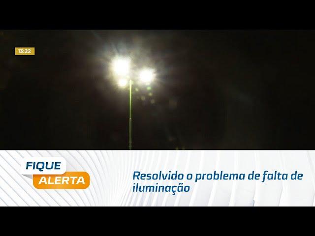 Resolvido o problema de falta de iluminação em praça na Cruz das Almas
