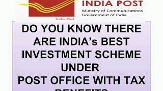 BUDGET SPECIAL II INDIA POST OFFICE SCHEMES 2018 INDIA II UNION
