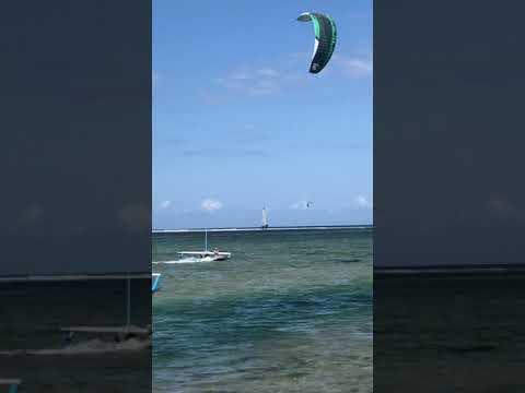 Kitesurfing On Bali Sanur Beach