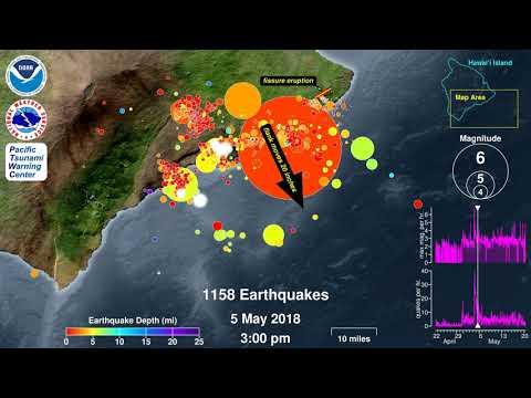 Earthquake Animation: Kilauea Volcano 2018