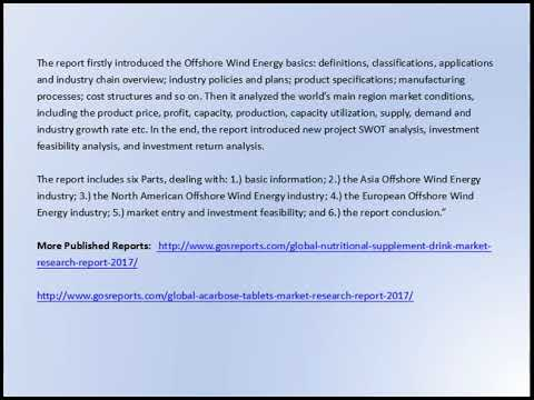 Global Offshore Wind Energy Market Research Report 2017