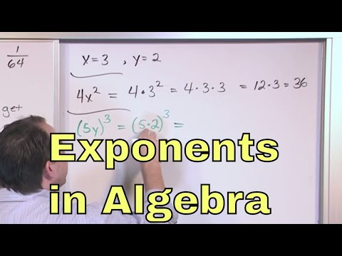 03 - Exponents and Order of Operations in Algebra