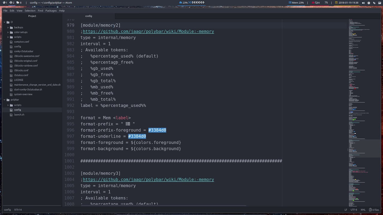 All modules that are available for polybar – any desktop | Arcolinux com