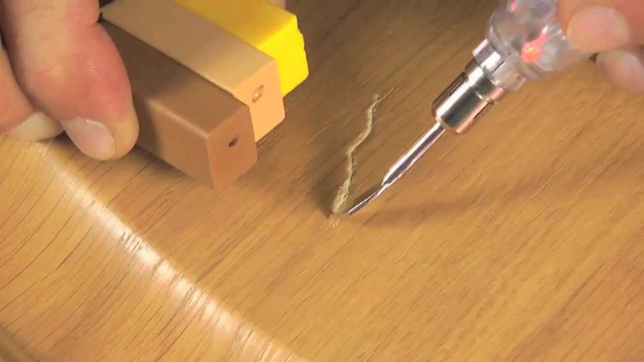 Hardwood Scratch Repair with Hard Wax from CeramiCure