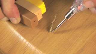 Hardwood Scratch Repair with Hard Wax from CeramiCure® Surface Repair by HIMG™
