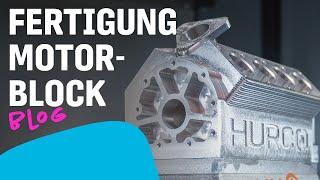 Fräsen eines Motorblocks
