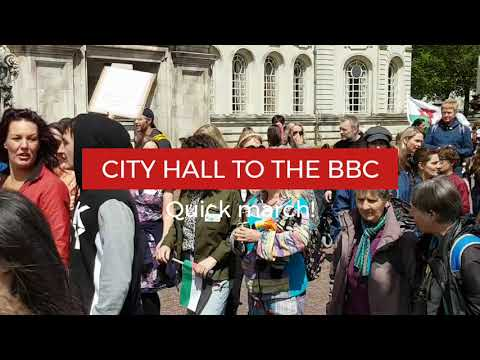 WORLD WIDE RALLY: QUICK MARCH TO THE BBC