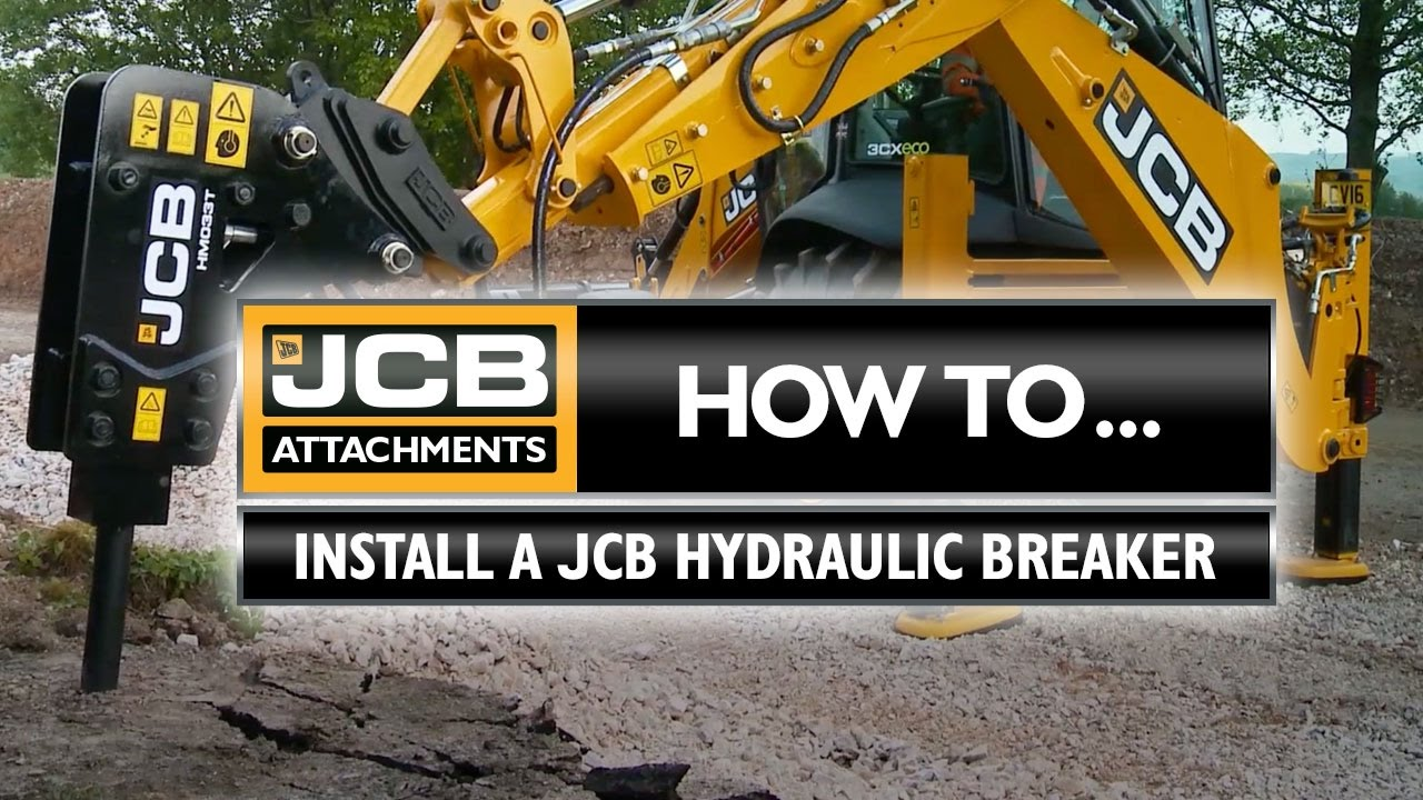 JCB Attachments: How to install a JCB Hydraulic Breaker on