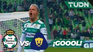 ¡Goool de Santos! Octavio Rivero marca el segundo | Santos 2 - 0 Pumas | Copa MX - 8vos Ida | TUDN