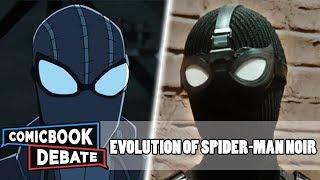 Evolution of Spider-Man Noir in Cartoons, Movies & TV in 4 Minutes (2019)