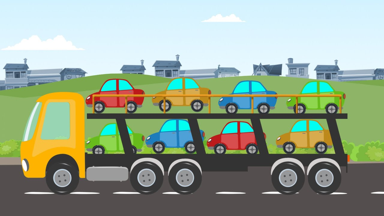 Auto Transport Truck | Car Wash | Video for Children