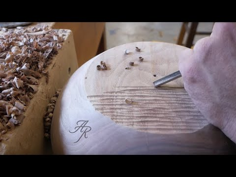 Carving A Hanging Planter From A Walnut Stump