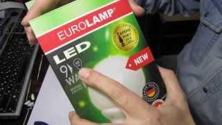 Обзор светодиодной лампы EuroLamp G120 9W
