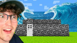 Testing Underwater Tsunami Hacks To See If They Work In Minecraft